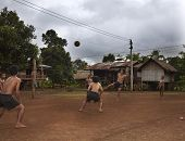 Lao Youth Playing Sports