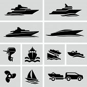 stock photo of towing  - Boat icons - JPG