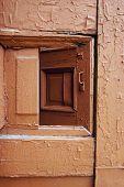 Old Wooden Door With Cracks