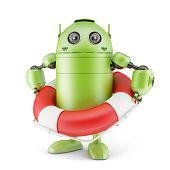 Robot Holding Life Buoy.
