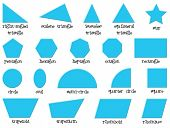 stock photo of heptagon  - Illustration of the different shapes on a white background - JPG