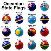 Oceania State Flags