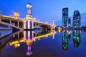 Reflection of Bridge in Kuala Lumpur