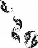 Victorian Black Flourish Designs