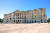 Panoramic view on the Royal Palace in Oslo, Norway
