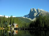 Mount Burgess And Emerald Lake, Yoho National Park, Canada