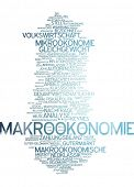 stock photo of macroeconomics  - Word cloud  - JPG