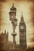 Big Ben (London) | Retro Vintage Grunge Style