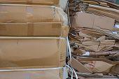Waste paper cardboard