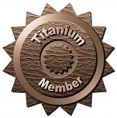 picture of titanium  - This seal declaring Titanium Membership can be used for the www as well as on other marketing material - JPG