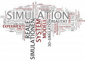 Word cloud -  simulation