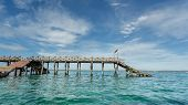 Wooden Bridge On The Indian Ocean
