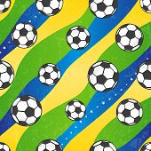 Seamless football pattern, vector background.