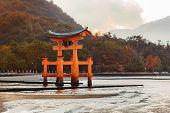 Great floating gate (O-Torii) on Miyajima island