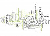 stock photo of wastewater  - Word cloud  - JPG