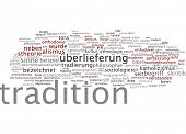 Word cloud - tradition