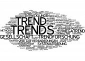 Word cloud - trend
