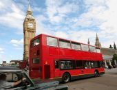 London Big Ben and double decker bus