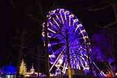 Turning Ferris Wheel at a Christmas Market, Maastricht, The Neth