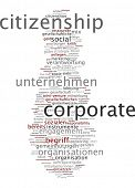 Word cloud - corporate citizenship