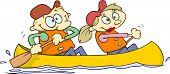 Canoeing couple