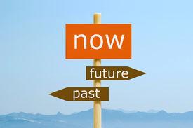 image of past future  - Now future past - JPG