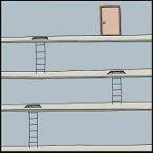 Ladders Lead To Door
