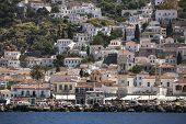 stock photo of hydra  - Marina of Hydra Island - JPG