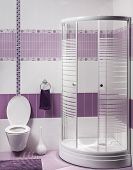 Detail Of A Modern Bathroom Interior With Luxury Shower And Toilet