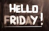 Hello Friday Concept