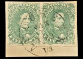 Authentic First Confederate Stamps, Jefferson Davis, Postmark 1862