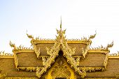 Golden Thai Style Roof At Wat Rong Khun