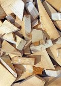 Background From Scraps Sawn Wooden Bars