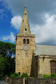 St. Lawrence Church And Spire At Warkworth