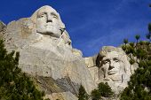 Mt. Rushmore, Washington and Lincoln