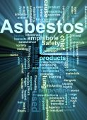 Asbestos Word Cloud Glowing