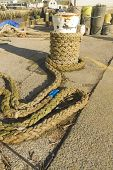 Mooring Bollard With Rope, West Bay