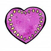 cartoon stitched heart