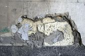 Old Wall With Crumbling Plaster