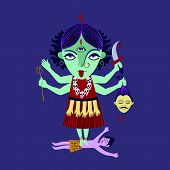 picture of shakti  - abstract Hindu  goddess kali religion cult india - JPG