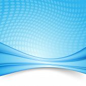Bright Blue Swoosh Lines Folder Template