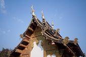 Vintage  Wat Chedi Liam, chiangmai thailand.