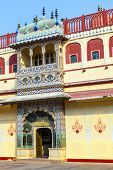 image of khas  - Chandra Mahal in City Palace Jaipur India - JPG