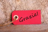 Red Tag With Grazie