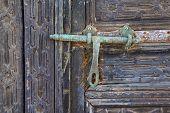 Door Abstract  Spain A Green Closed Wood    Lanzarote