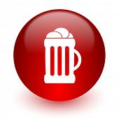 beer red computer icon on white background