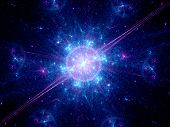foto of big-bang  - Big bang in space computer generated fractal background - JPG
