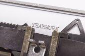 A Closeup Of  Typewriter
