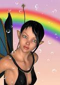 Fairy Under Rainbow