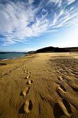Footstep In Lanzarote   Rock Stone Sky